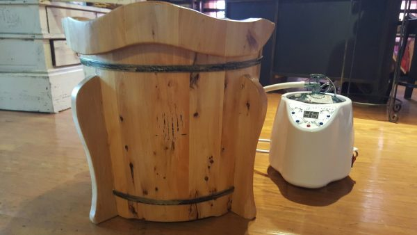 Ionic steam kit shown with a sauna